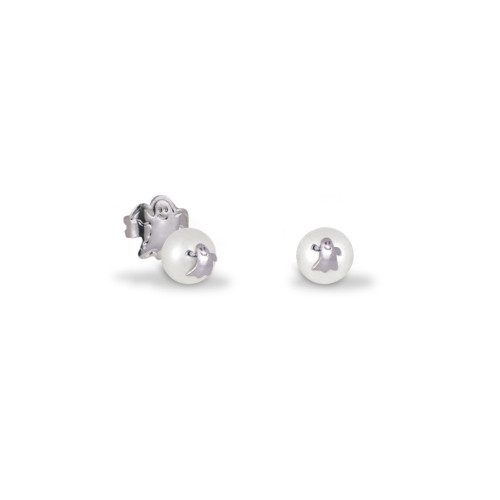 Pendientes CLARITY GHOST Pearl Mini plata