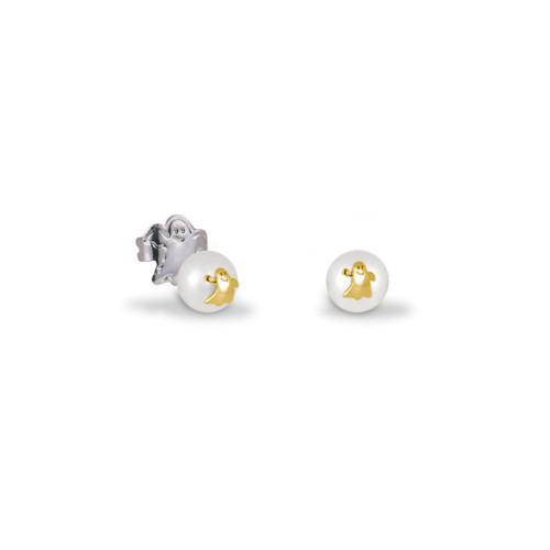 Pendientes CLARITY GHOST Pearl Mini oro