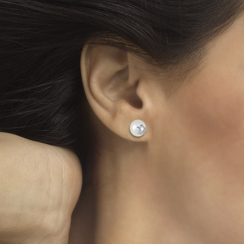 Pendientes CLARITY GHOST Pearl M plata