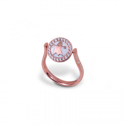 Anillo CLARITY GHOST Circle oro rosa