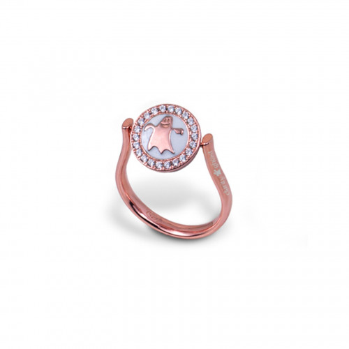 Anillo CLARITY GHOST Circle oro rosa