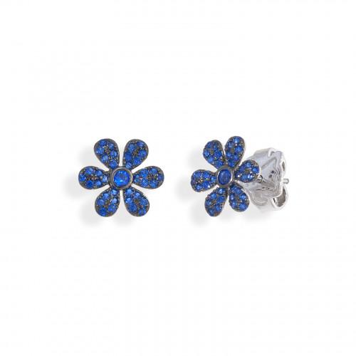 Pendientes Blue Flower