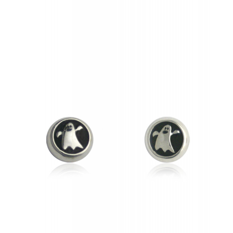 Pendientes CLARITY GHOST Circle plata