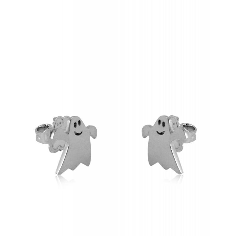 Pendientes CLARITY GHOST Midi plata