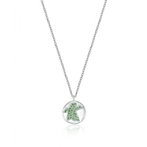 Collar Clarity Ghost de plata de primera ley y circonitas verdes