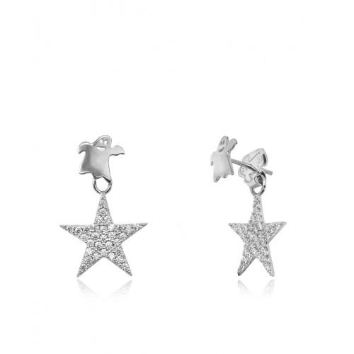 Pendientes White Star
