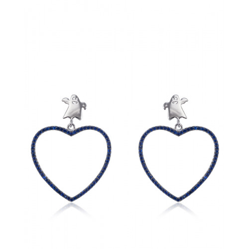 Pendientes CLARITY GHOST  Cuore Blue