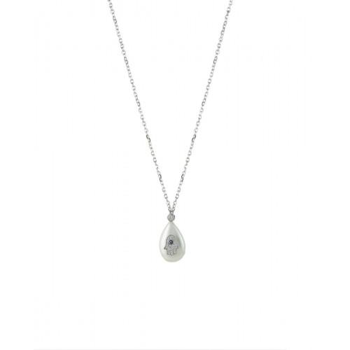Collar Clarity Ghost Casual en plata de primera ley y circonitas