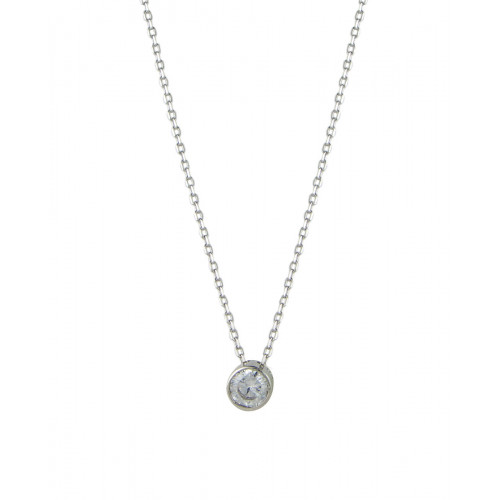 Collar Clarity Ghost Casual en plata de primera ley y circonita