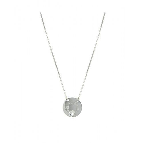 Collar Clarity Ghost Bellissimo de plata de primera ley y circonita