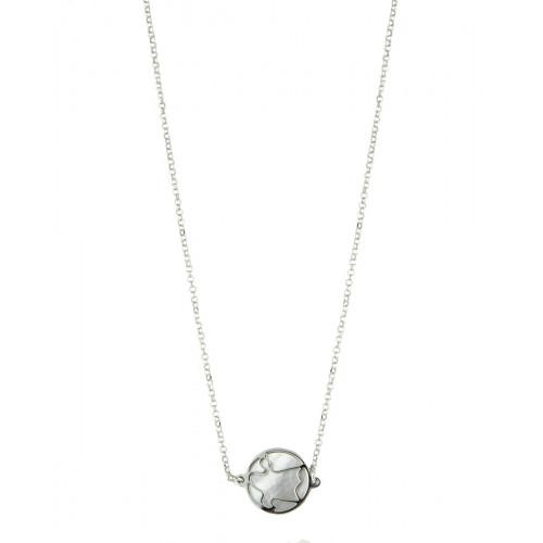 Collar Clarity Ghost Bellissimo de plata de primera ley con nácar