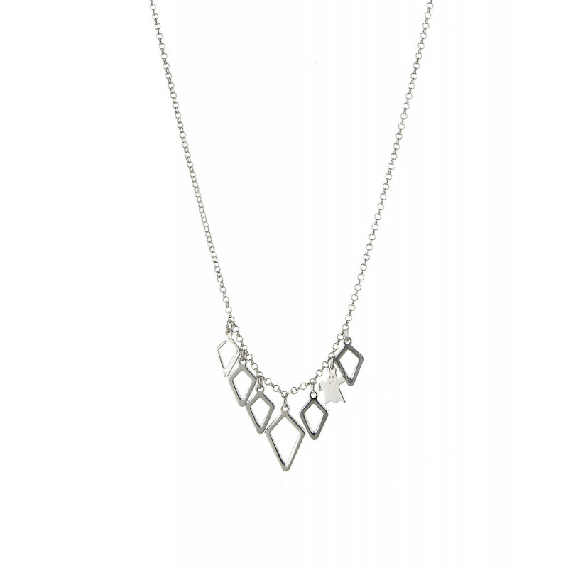 Collar Clarity Ghost Bellissimo de plata de primera ley liso