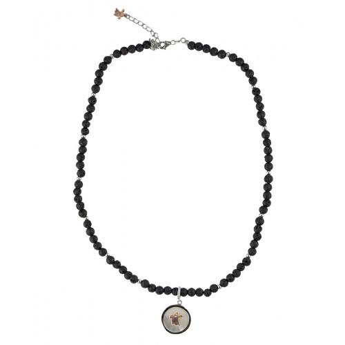 Collar Clarity Ghost de plata de primera ley y circonitas