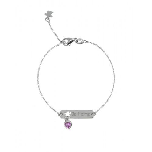 Pulsera Clarity Ghost Bellissimo de plata de primera ley y circonita rosa