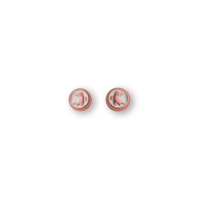 Pendientes CLARITY GHOST Circle oro rosa
